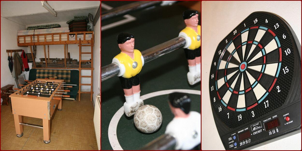 Herna - šipky, fotbal