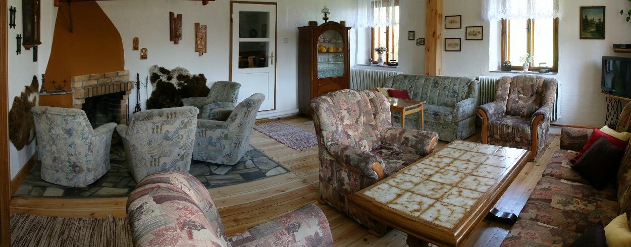 Společenská místnost - širokoúhlý pohled