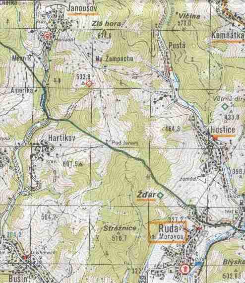 mapy / Turistická mapa - Ruda nad Moravou